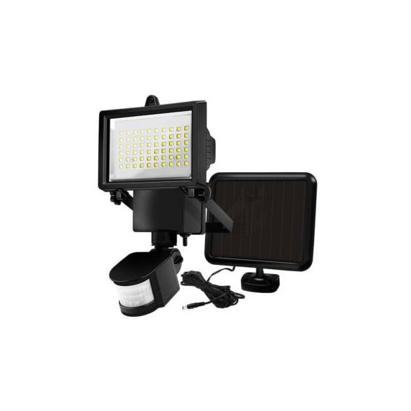 Mozgásérzékelős, napelemes reflektor, 60 LED